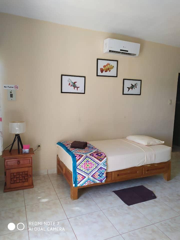 Hotel Las Palapas de Punta Allen Habitación # 1