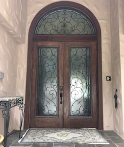 Large double entry doors