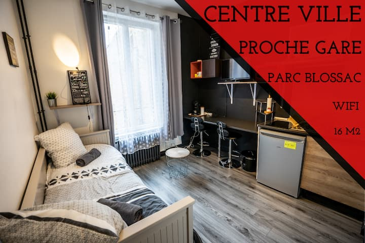 INDUS' studio / Parc BLOSSAC / Proche GARE