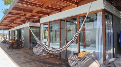 Casa Coco Sunset - 2 suítes, piscina e churrasco
