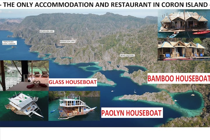 the only accom in Coron Island Houseboat Suite1