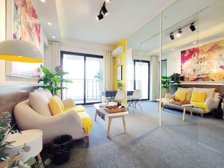 """【BANBAN】""""左邻""""-瘦西湖和京华城中点高端社区一室一厅豪华套房!"""