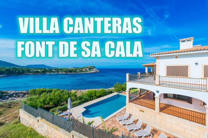 CANTERAS with pool on the seafront in Cala Ratjada