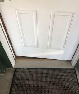 Small door threshold.