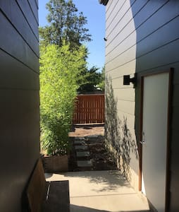 Breezeway to the outdoor stairs to the apartment
