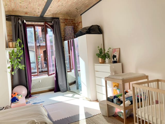 The children's bedroom which can be equipped with double bed.