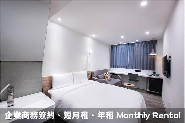 A22 逢甲夜市酒店式服務雙人房短月租,年租,商務簽約,交通方便,生活機能強,環境優雅