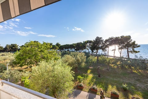 Two-bedroom, two-balconies app 30m from beach