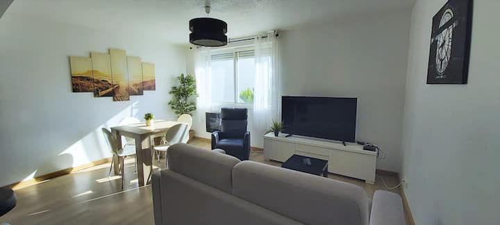 MIRACLE MORNING 50M2, WIFI, PLAGES, CENTRE VILLE