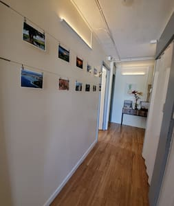 Wide hallway for easy accessibility.