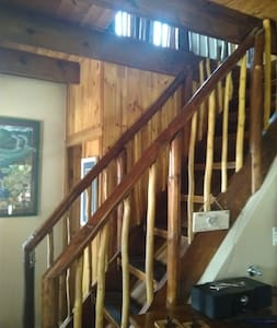 Staircase to go up to the double bedroom.