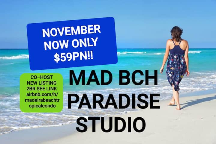 Mad Bch Paradise Studio*NOVEMBER*NOW$59 PN !
