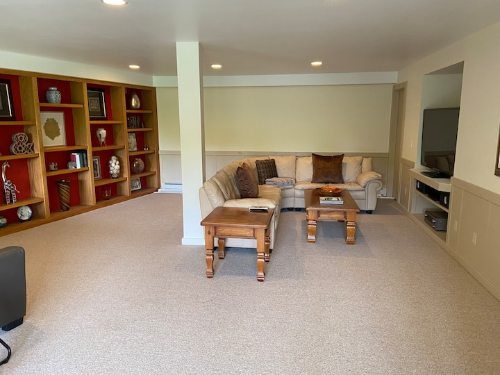 Entire Lower Level Area - Private and Spacious