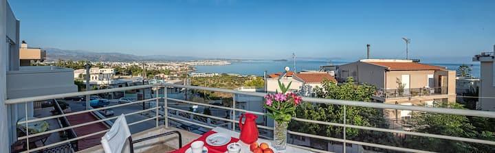 Modern house amazing sea & city view