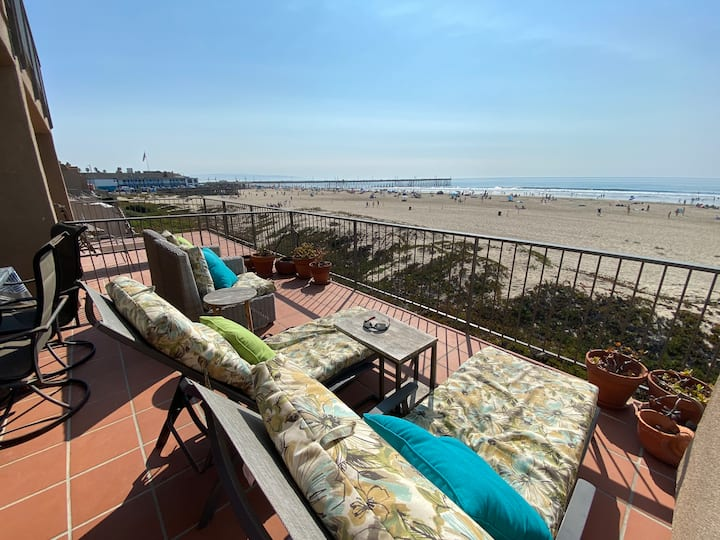Beachfront, luxury 3BR condo in downtown Pismo