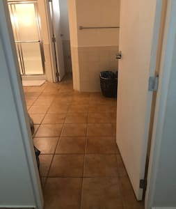 Door to the bathroom is wide enough for wheelchair.