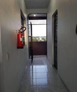 Área de acesso do andar superior.