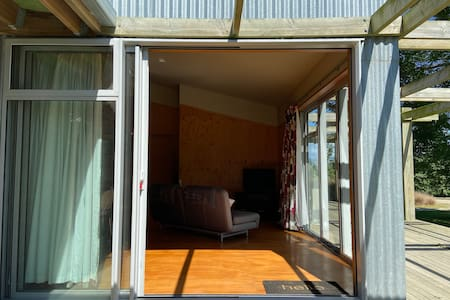 The sliding doors open right up, lots of room to enter
