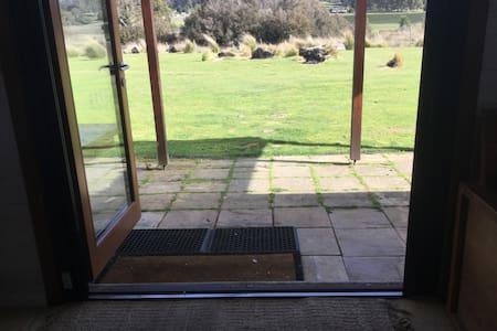 Double doors open at ground level