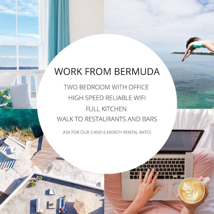 WATERFRONT WORK FROM BERMUDA OFFICE & FAST WIFI