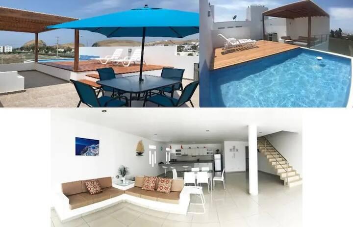 Casa de Playa PRIVADA, piscina propia Asia/Chocaya