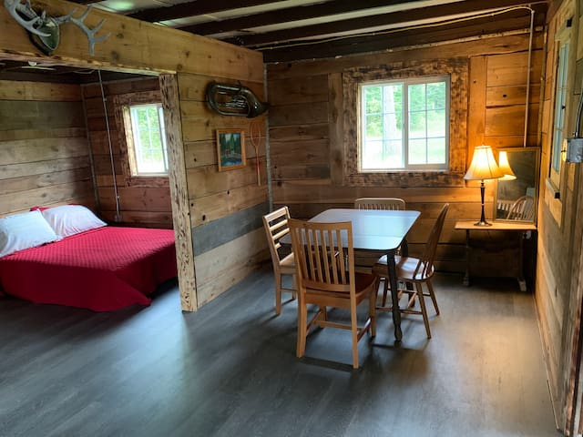 Newly remodeled interior of the little cabin