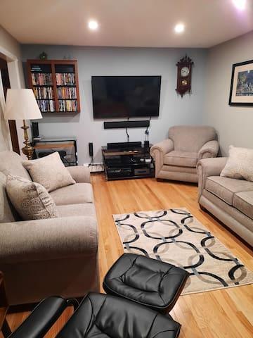 View of Livingroom from kitchen door way