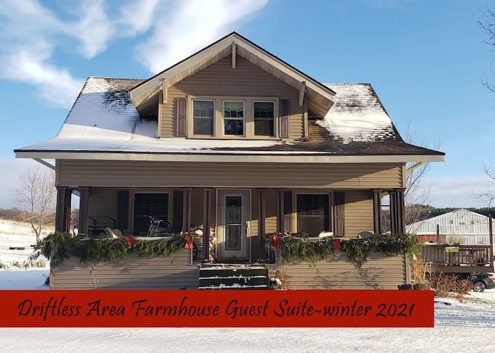 Driftless Area Farmhouse Guest Suite