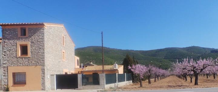 Casa Rural Los Almendros- 15' Castellón Airport.