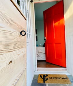 """Front door is 36"""" (91.44 cm) . There's also a French door at the back which is 5 feet (152 cm) wide."""