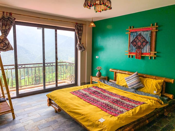 Private room with Mountain View in Sapa central