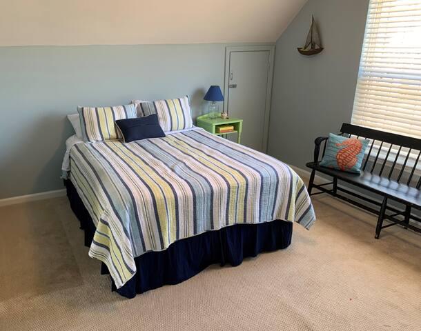 Bedroom 2 -  Queen memory foam bed on top floor