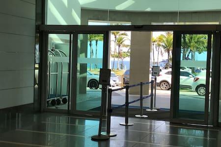 Entrada do hotel e residencial