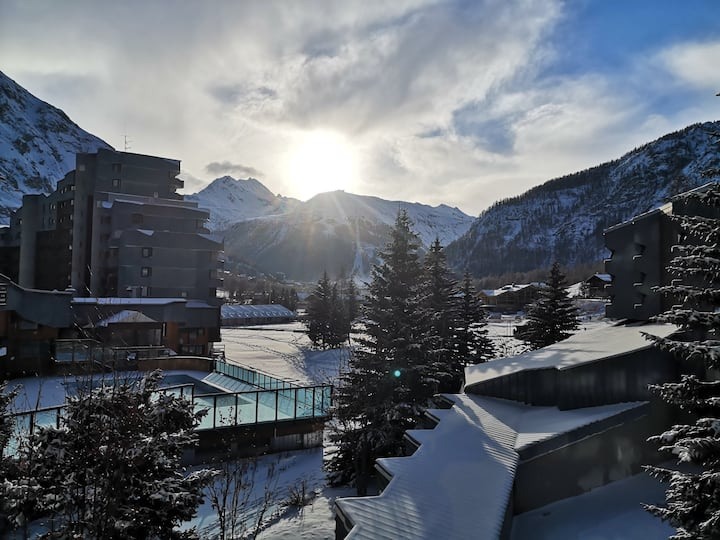 Studio Val D'Isère 2/4pax plein sud vue magnifique