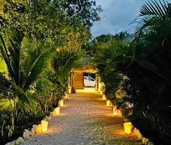 Camino de entrada a la villa