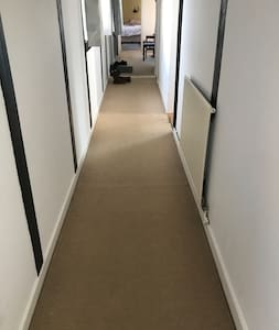Wide hallway for easy access