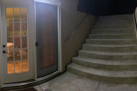 Motion sensor solar lights leads to the main Wide Private Entrance