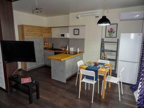 Уютная 1 комнатная большая Loft Studio возле Меги