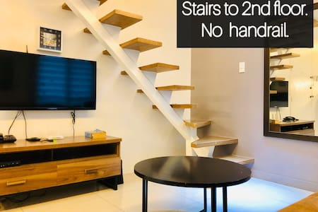 There's a stairs to go to 2nd floor, yet to handrails so just watch your step & be careful while walking on it