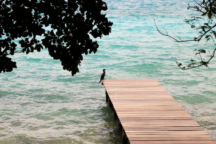 Pucté Bacalar / • Hun / Lagoon front