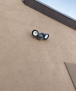 Motion detector lighting.