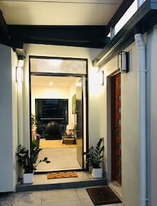 Our entrance has a large door and small step with no other steps in the house making it easy to access for clients in wheelchairs