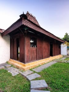 wooden joglo house with open hall