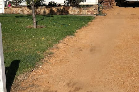 Wide driveway