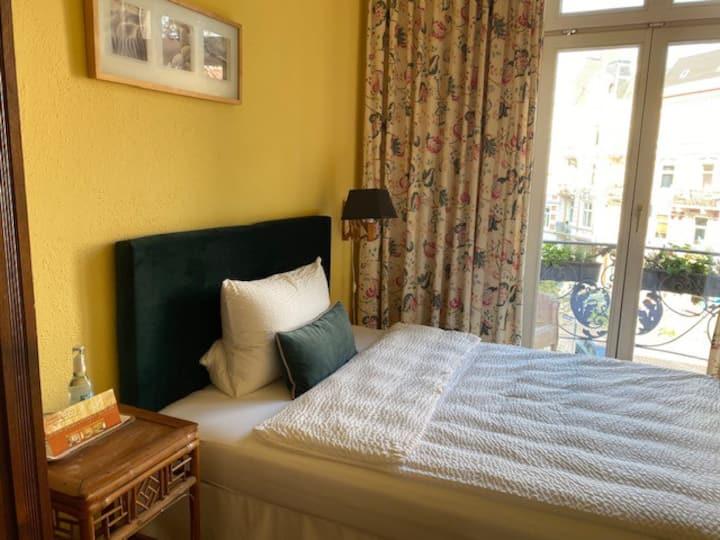 Balconyroom in hanseatic historic Mansion
