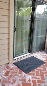 the slider door opening is 30 inches with a 4 inch threshold