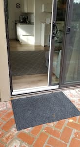 3 inch threshold at slider door. slider door opening is 30 inches wide