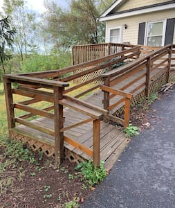 Accessible ramp into the guest house