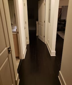 """Bedroom and bathroom doorways are 32"""" wide and front and back doorways are 36"""" wide.  This condo was built in 2009 with ADA compliance required by code."""