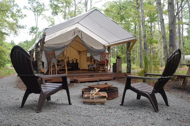 Glamping Tent - Rustic Lodge  |  NC Coast Camping